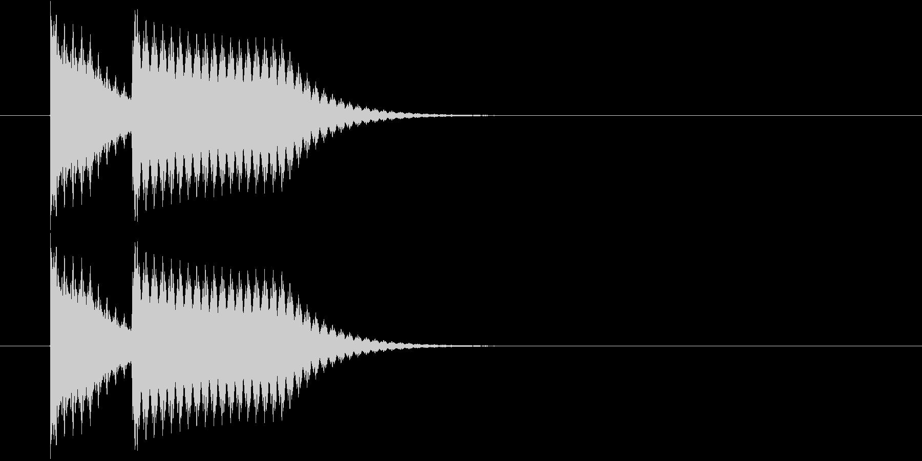 シンプルな不正解音(ブッブー)の未再生の波形