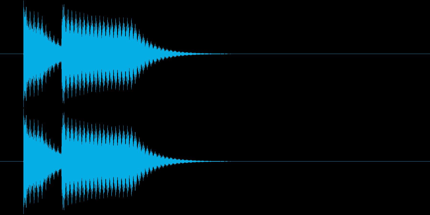 シンプルな不正解音(ブッブー)の再生済みの波形