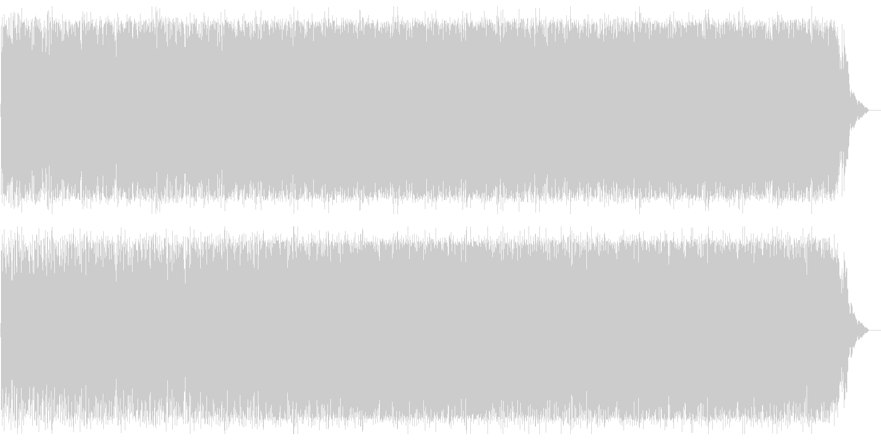 メローでスピーディーなテクノポップの未再生の波形