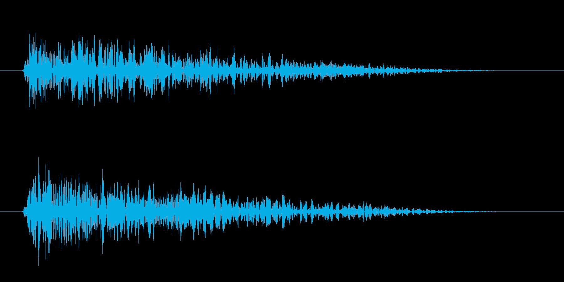 アイテム獲得音の再生済みの波形