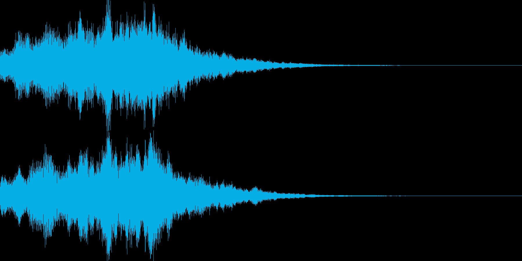 サウンドロゴ38_シンセDUの再生済みの波形