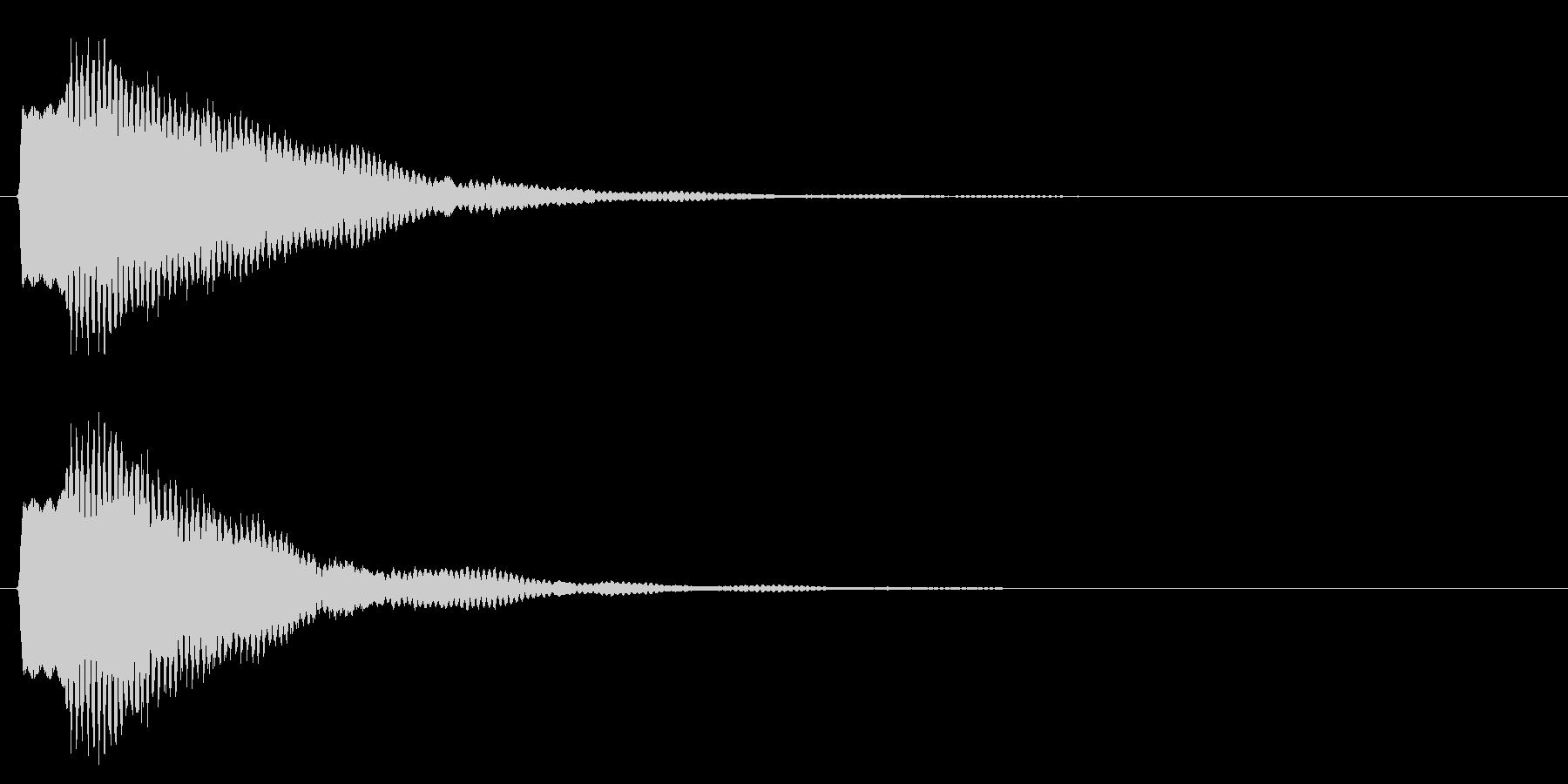 決定/注意事項/鉄琴の未再生の波形
