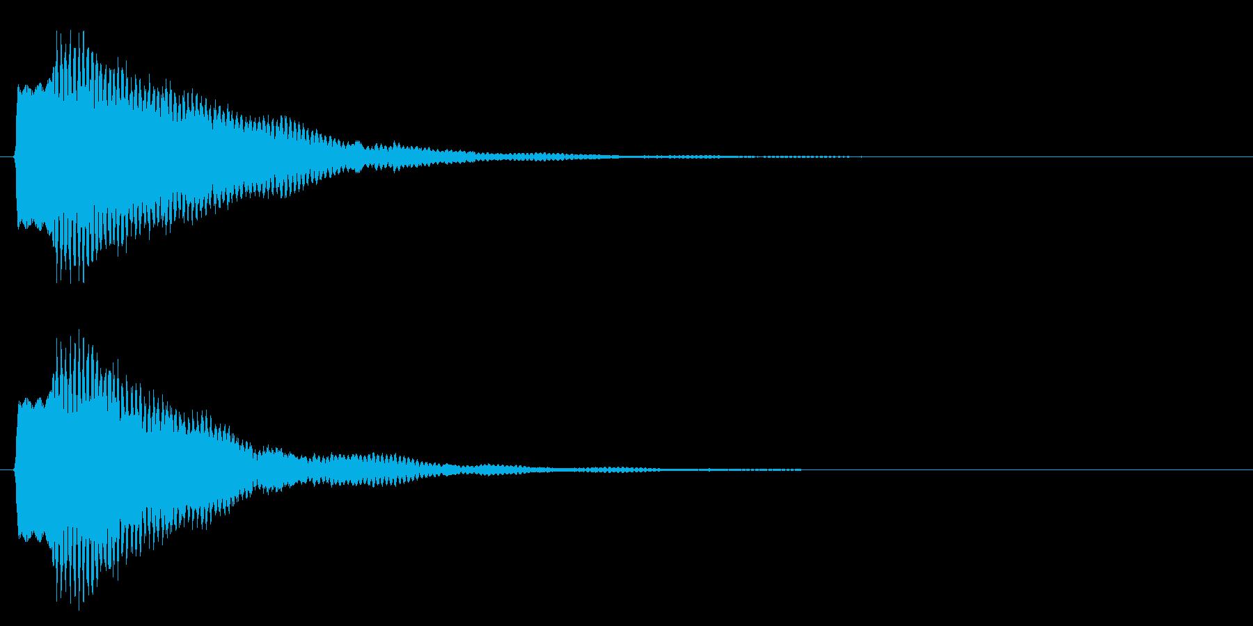 決定/注意事項/鉄琴の再生済みの波形