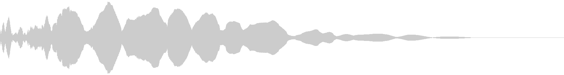 ピューンと放り投げる(遠くまで飛ぶ)の未再生の波形