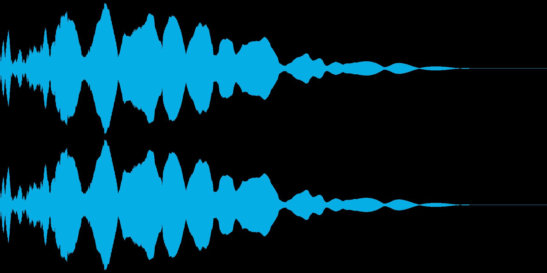 ピューンと放り投げる(遠くまで飛ぶ)の再生済みの波形