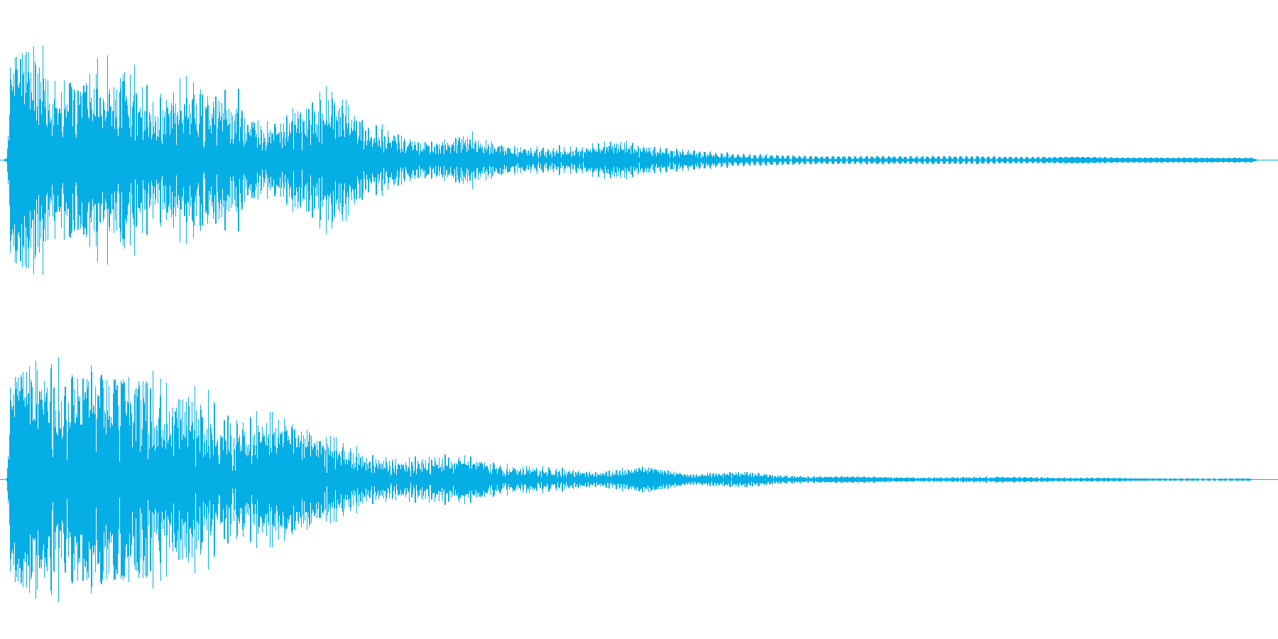 ゴォ〜ン(重みのある鐘の音)の再生済みの波形