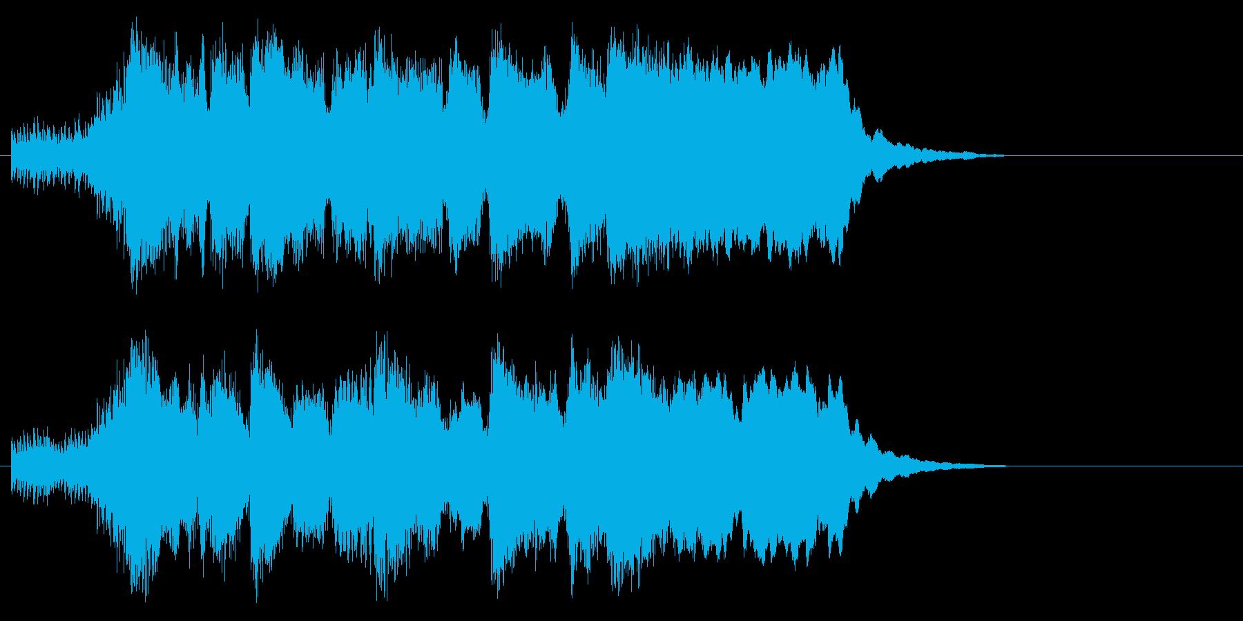 ヨーロッパ 表彰 発表 ファンファーレの再生済みの波形