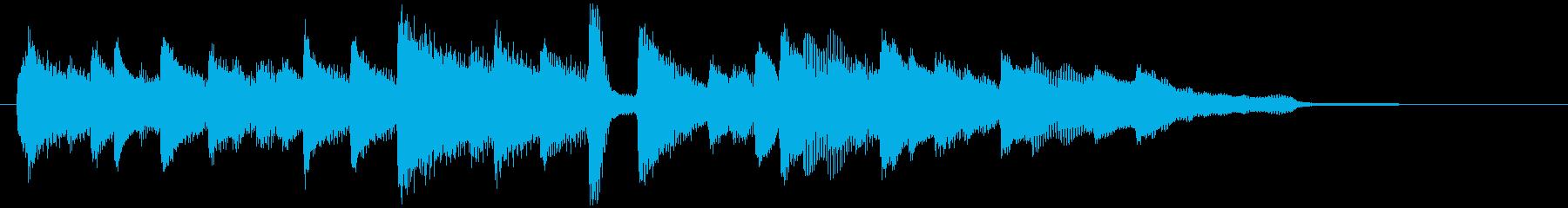 落ち着きのあるピアノバラードの再生済みの波形