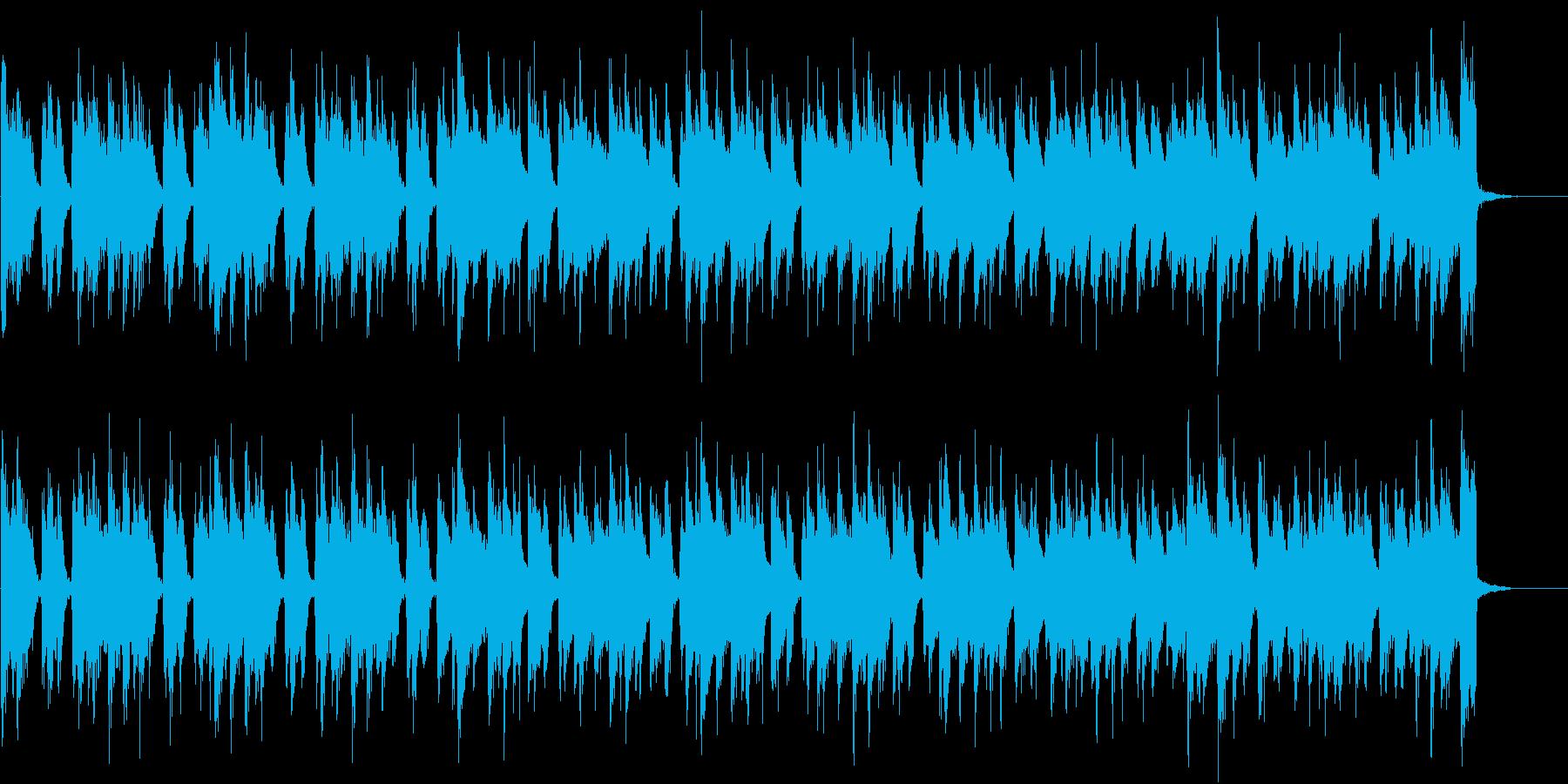 渋めのフレーズのアコギBGMの再生済みの波形