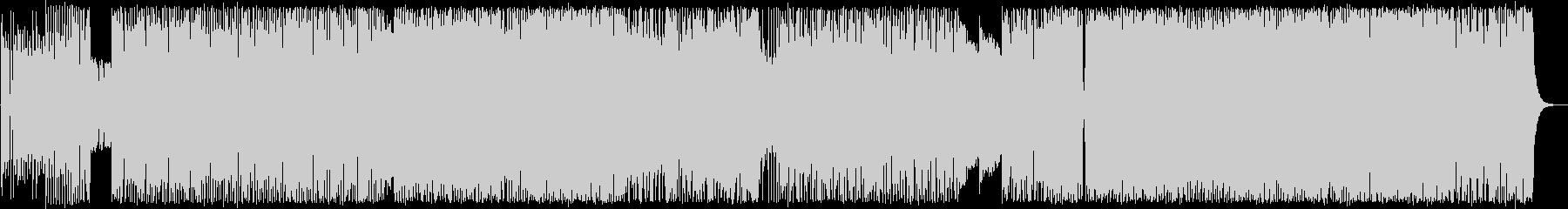 ダークで激しいロックポップスの未再生の波形