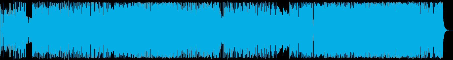 ダークで激しいロックポップスの再生済みの波形