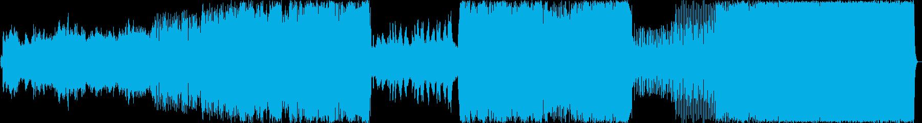 ノスタルジックで楽しい吹奏楽風行進曲の再生済みの波形