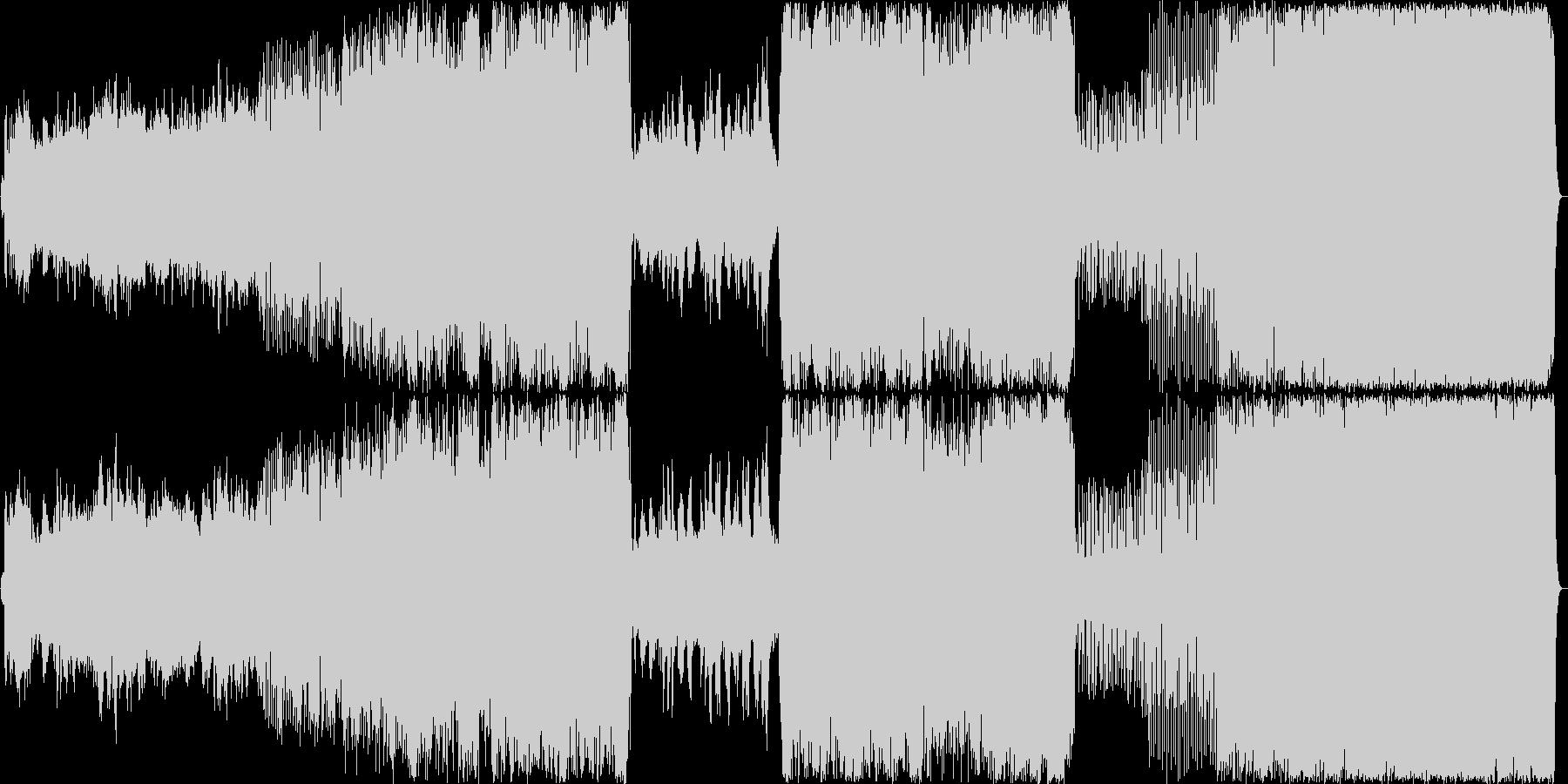 ノスタルジックで楽しい吹奏楽風行進曲の未再生の波形
