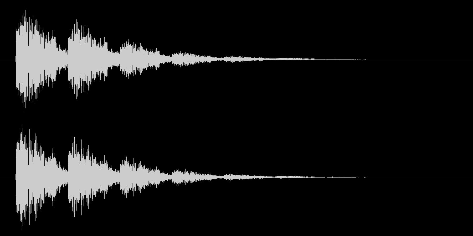 【アクセント43-2】の未再生の波形