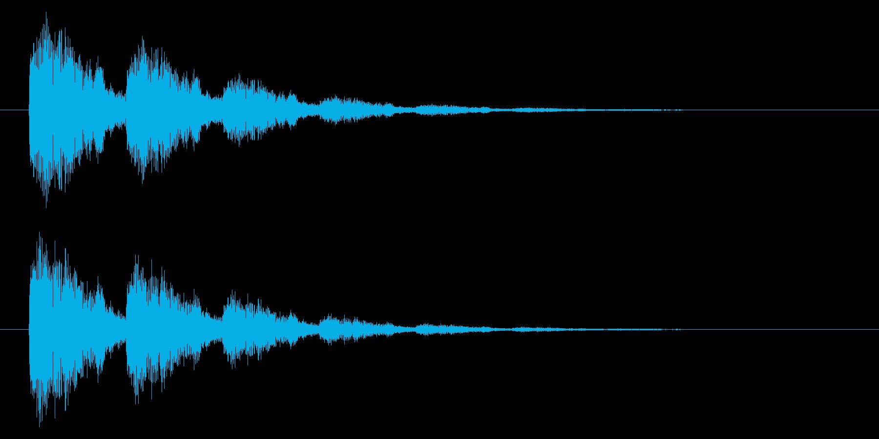【アクセント43-2】の再生済みの波形