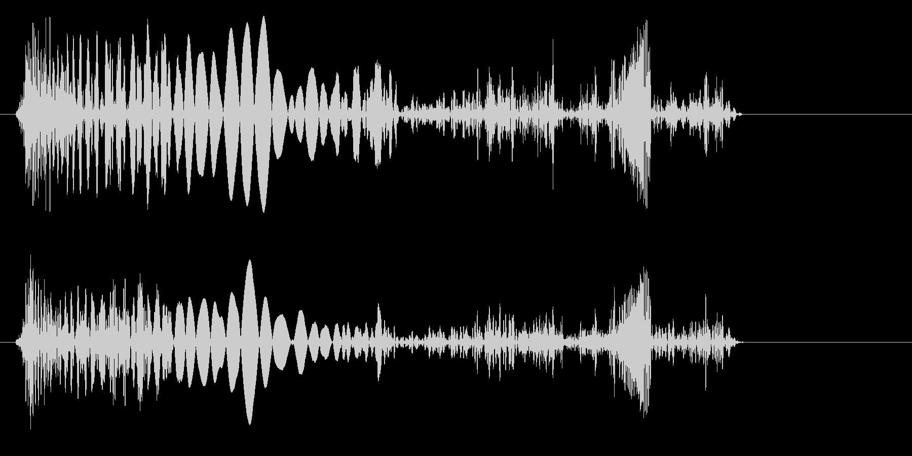プチュリッ(軟体物質がつぶれるような音)の未再生の波形
