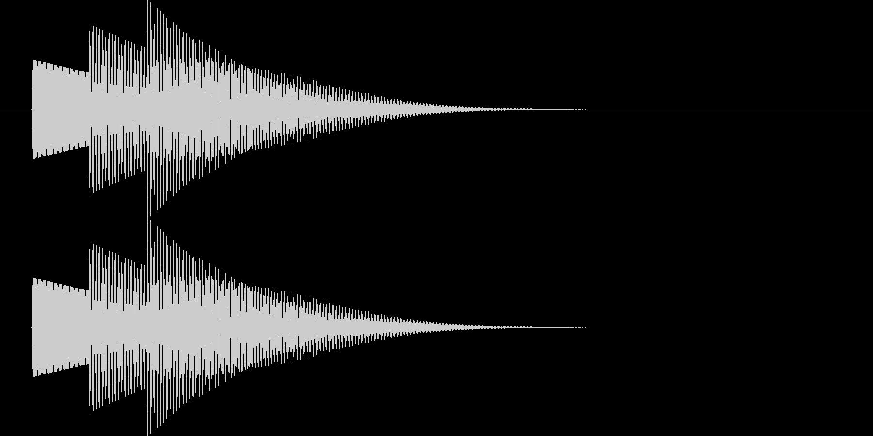 ボタン音の未再生の波形
