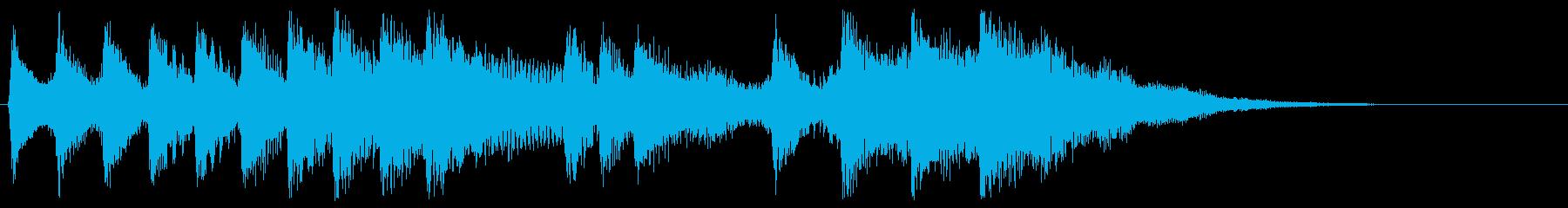 レトロなゲームオーバー音 ミス 残念な時の再生済みの波形