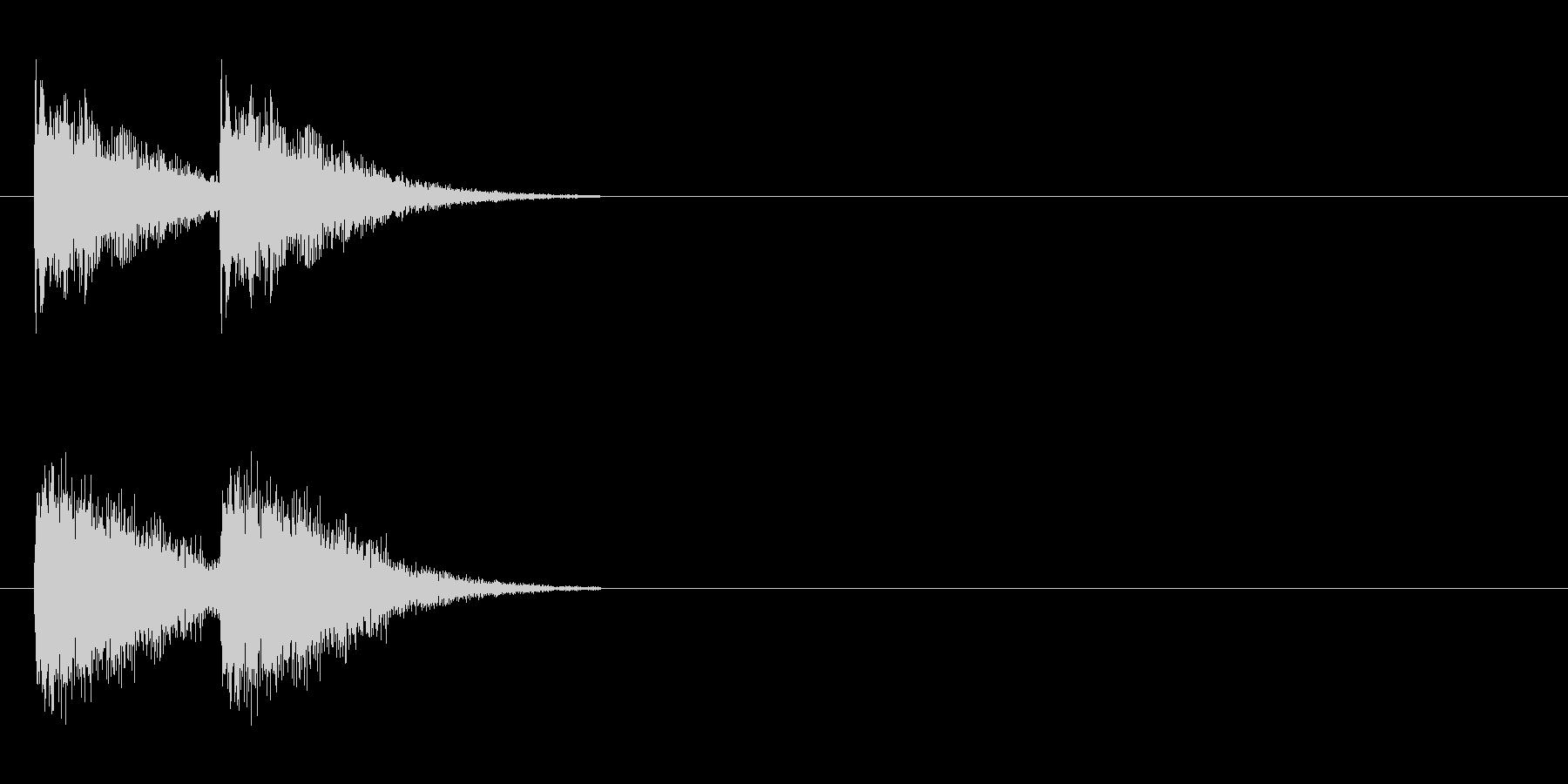 ダメージ音 5の未再生の波形