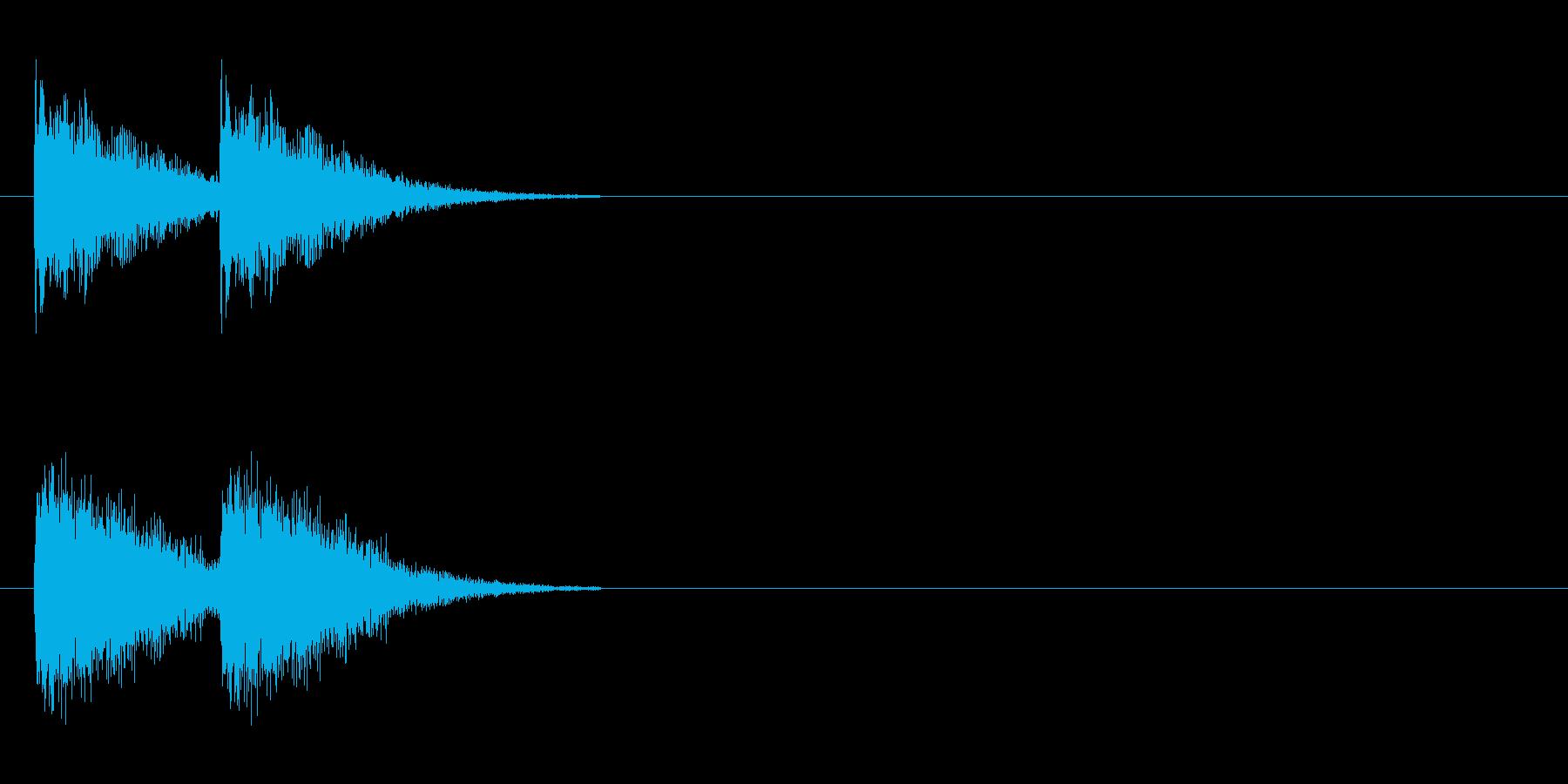 ダメージ音 5の再生済みの波形