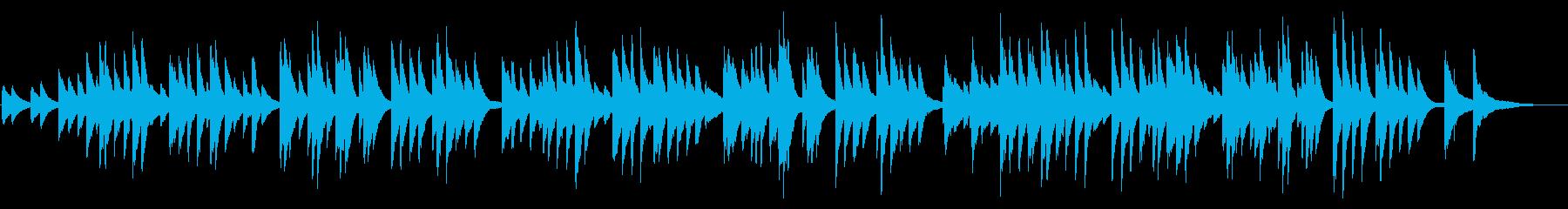 唱歌「故郷」ピアノソロの再生済みの波形