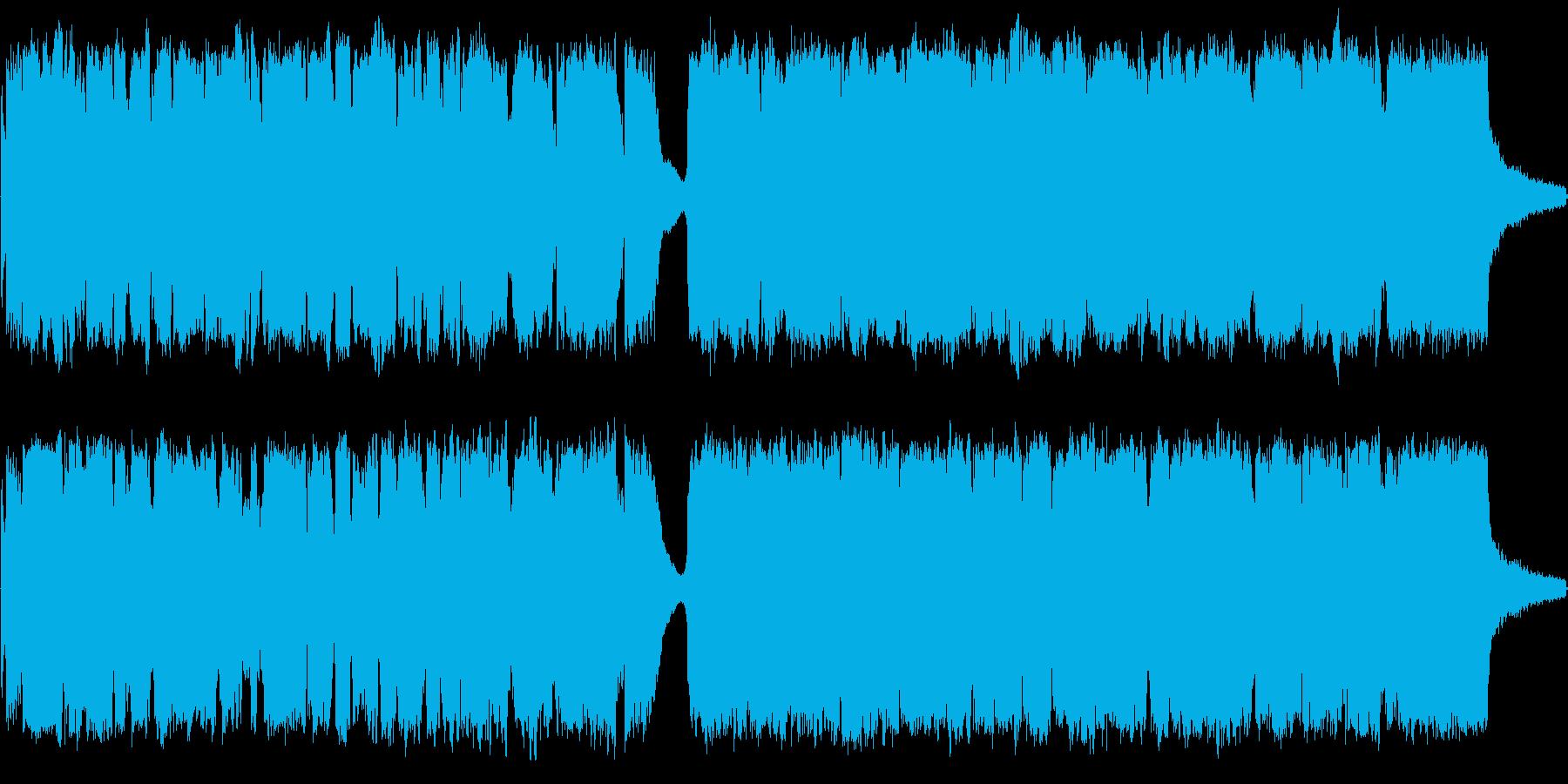 和風で格式高いBGMの再生済みの波形