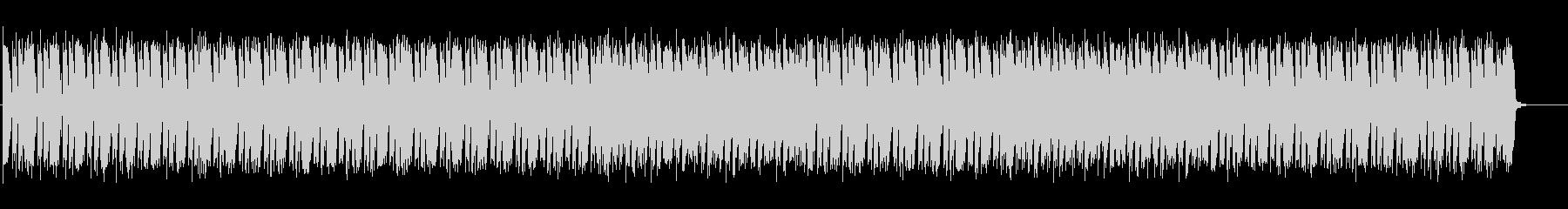 少し怪しい雰囲気のエレクトロニカBGMの未再生の波形