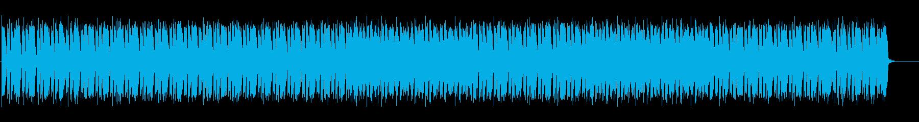 少し怪しい雰囲気のエレクトロニカBGMの再生済みの波形