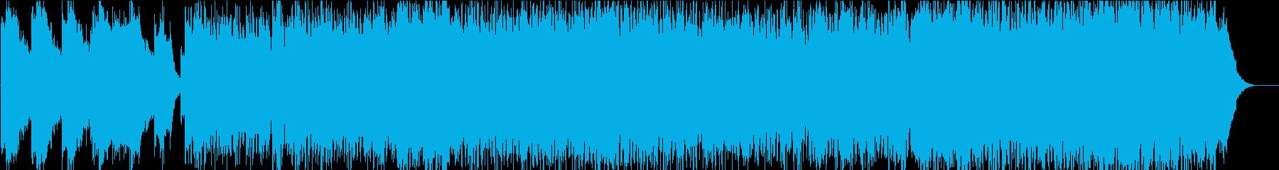 時代劇大河ドラマのオープニングイメージの再生済みの波形