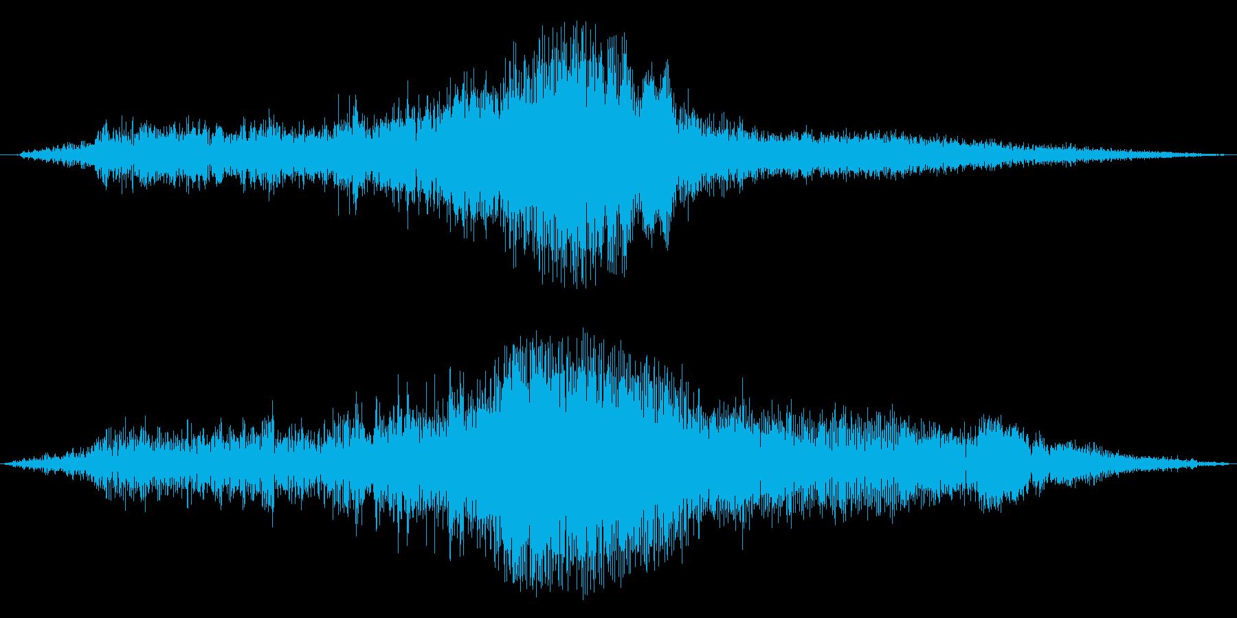 ブーン(車輌の通過する音)の再生済みの波形