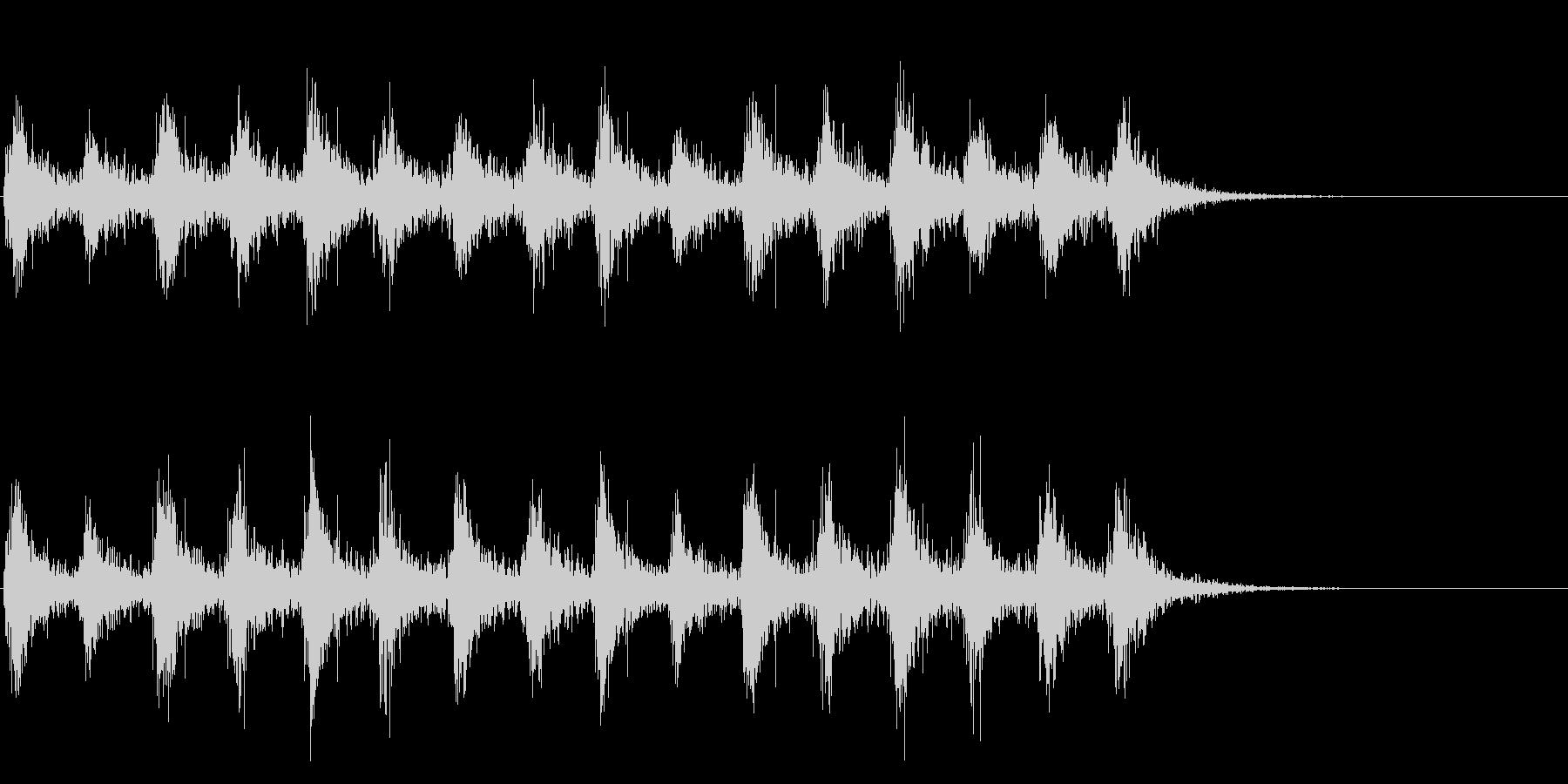 足音 行進の音(軍隊、兵隊、大人数等)6の未再生の波形