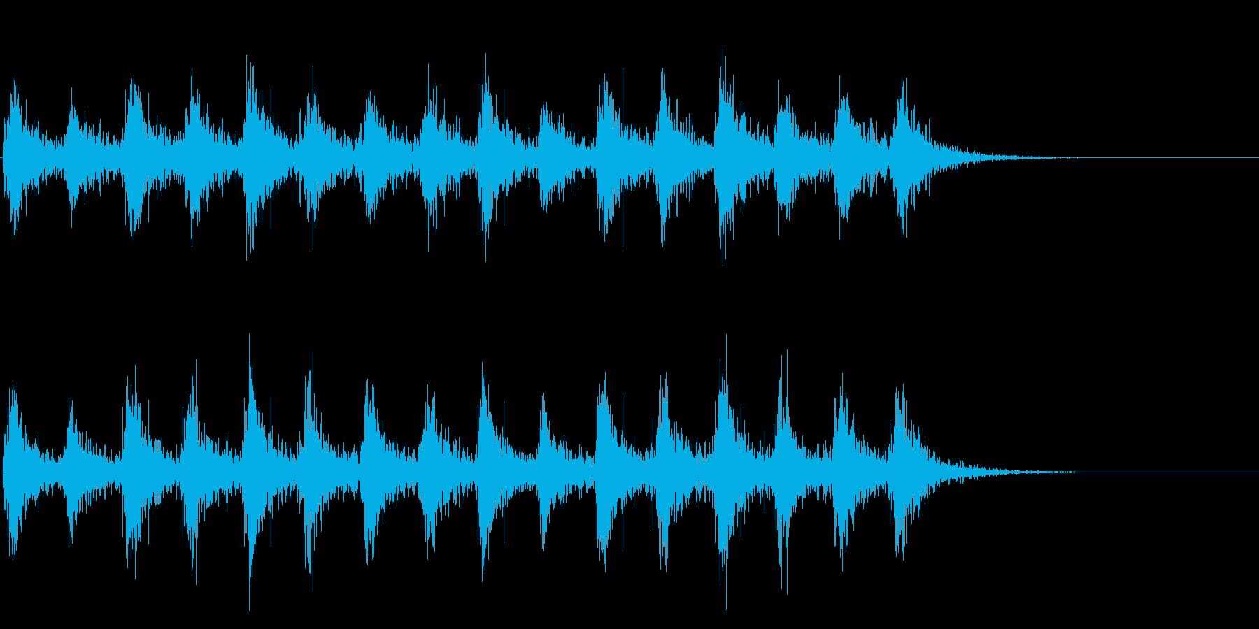 足音 行進の音(軍隊、兵隊、大人数等)6の再生済みの波形