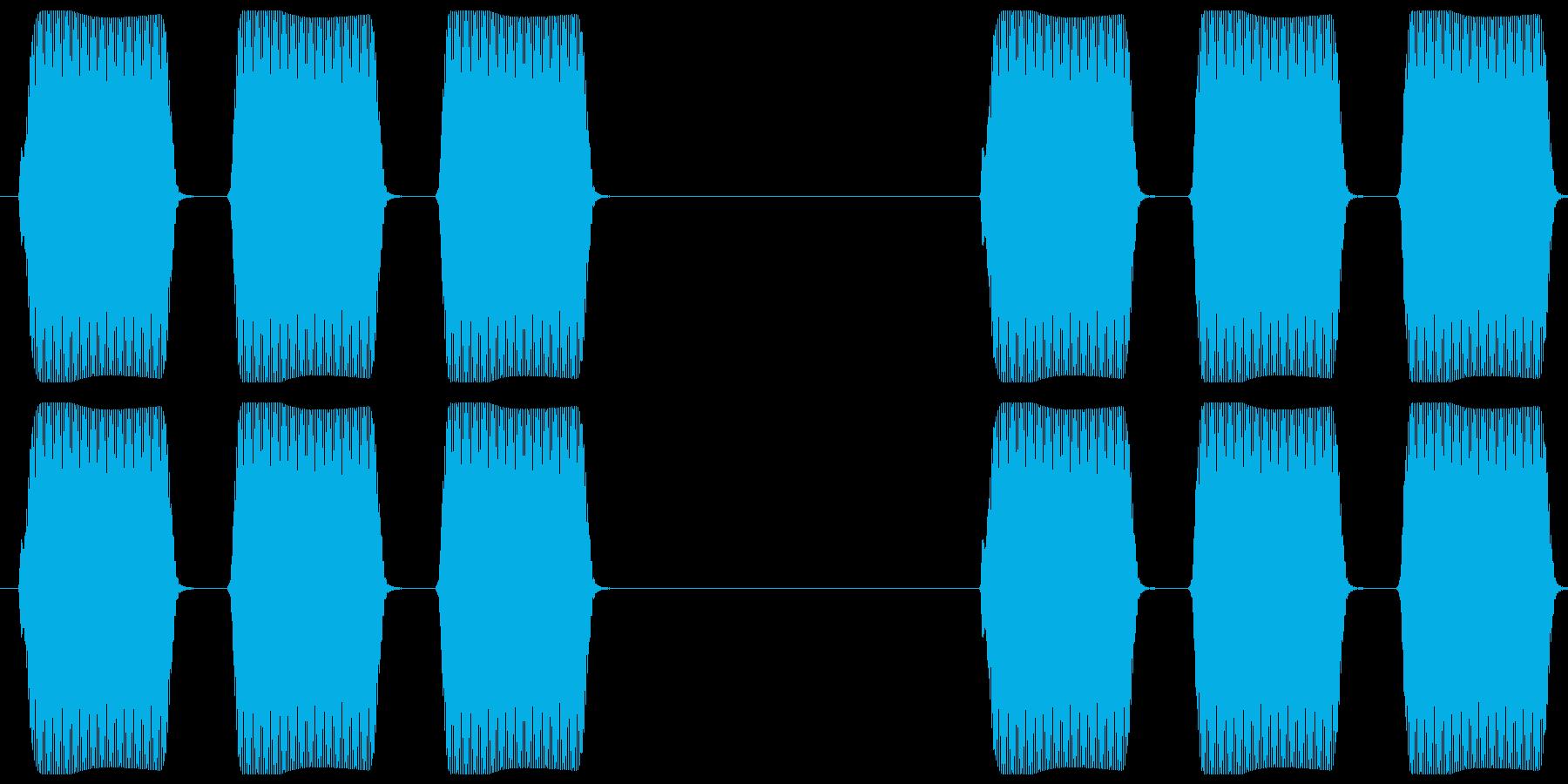 電話 呼び出し音 プププッ×2の再生済みの波形