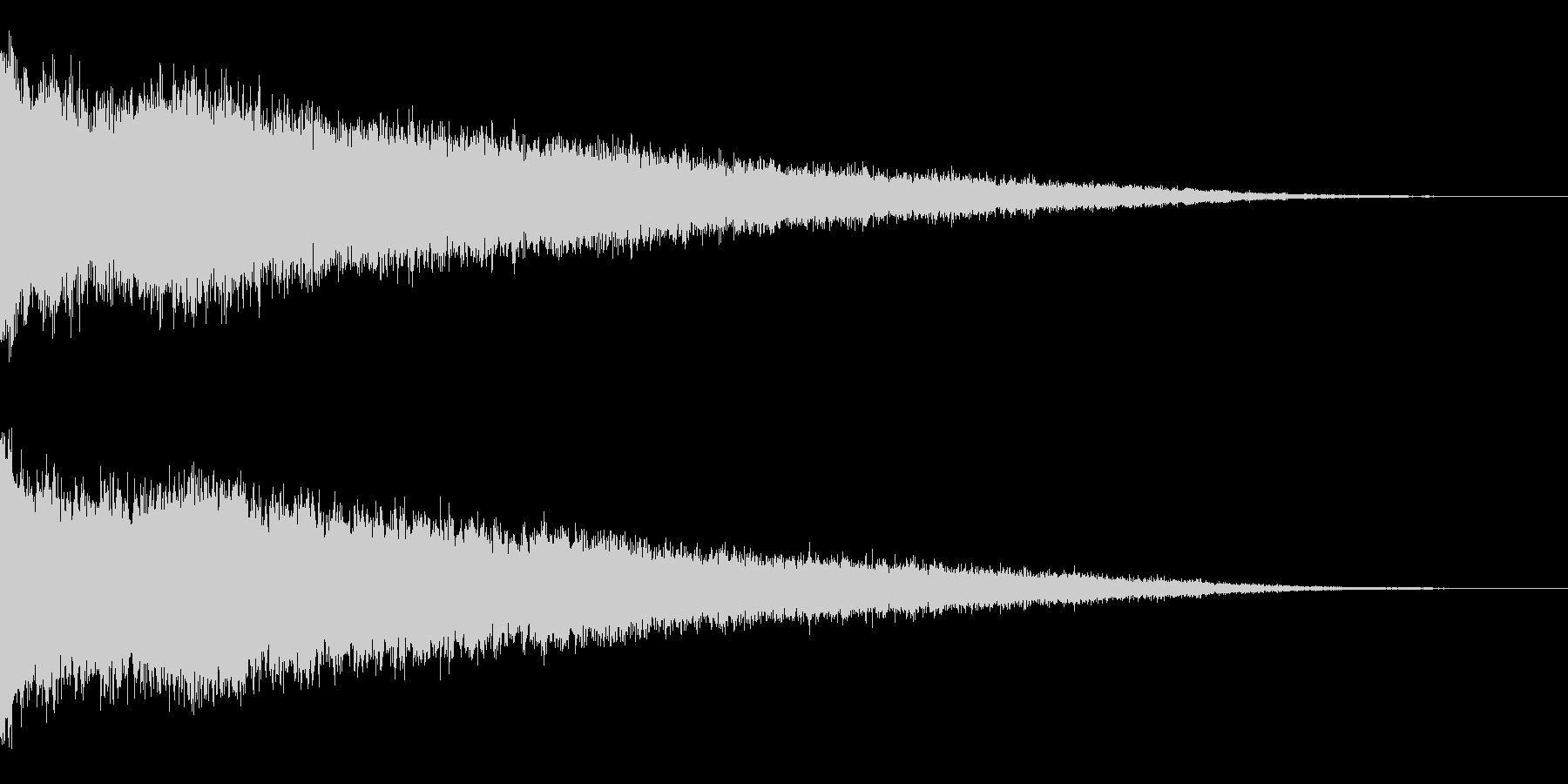 ホラー系アタック音45の未再生の波形