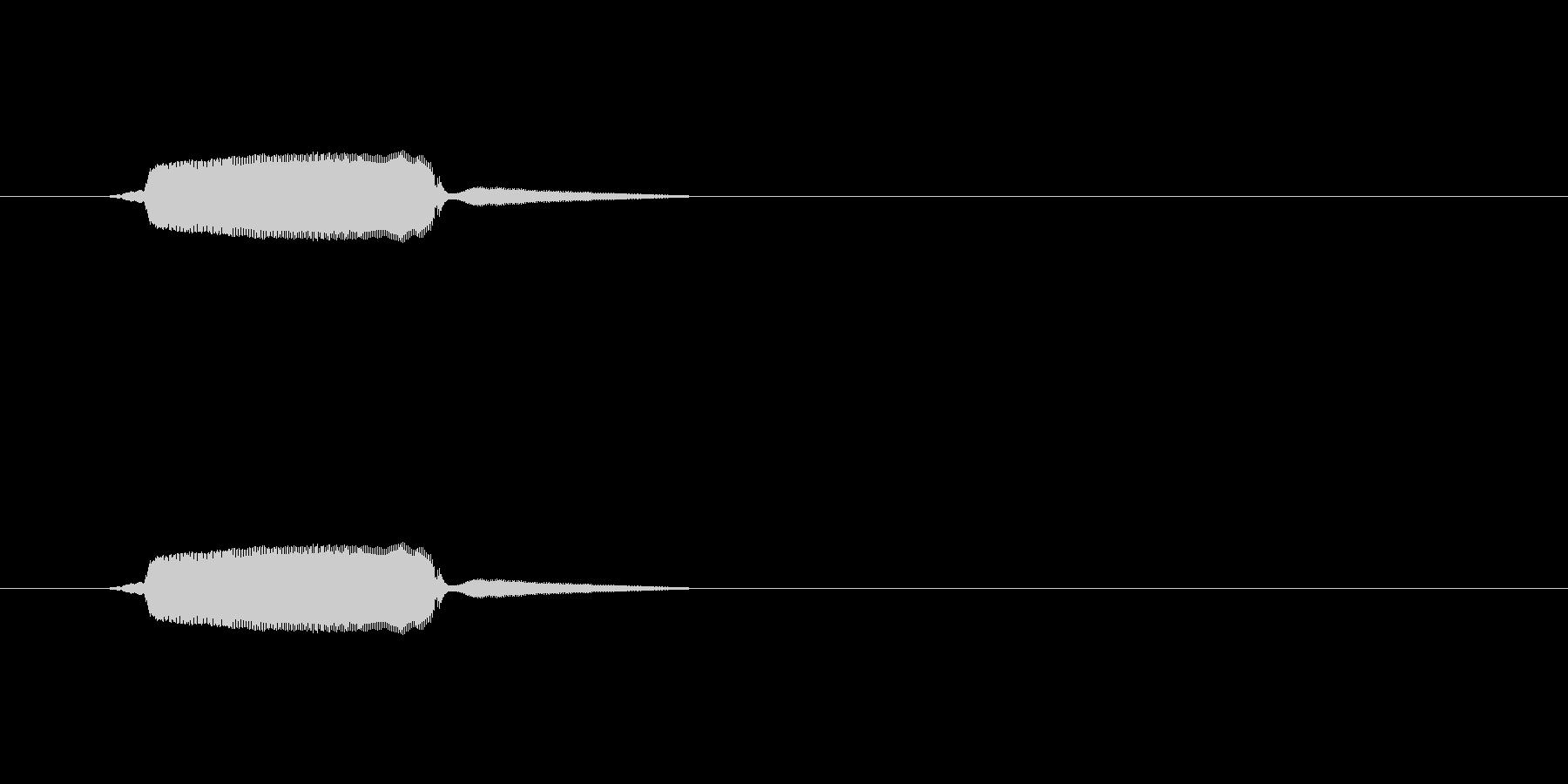 ひゅーん(落下音、かなり短め)の未再生の波形