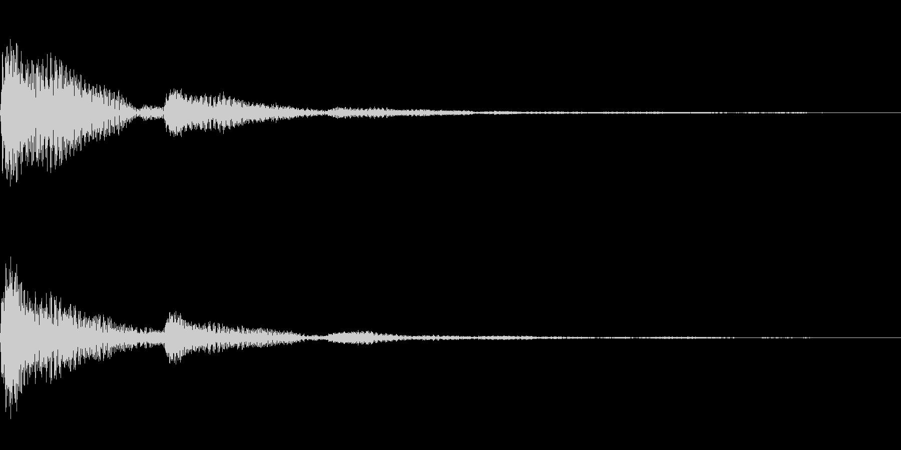 カンカン(クリック)の未再生の波形