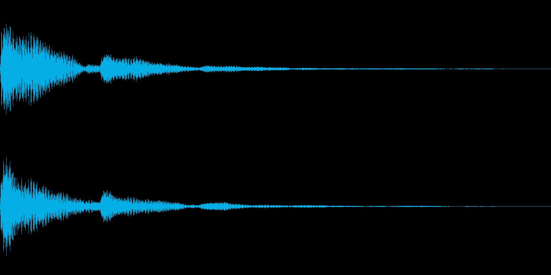 カンカン(クリック)の再生済みの波形