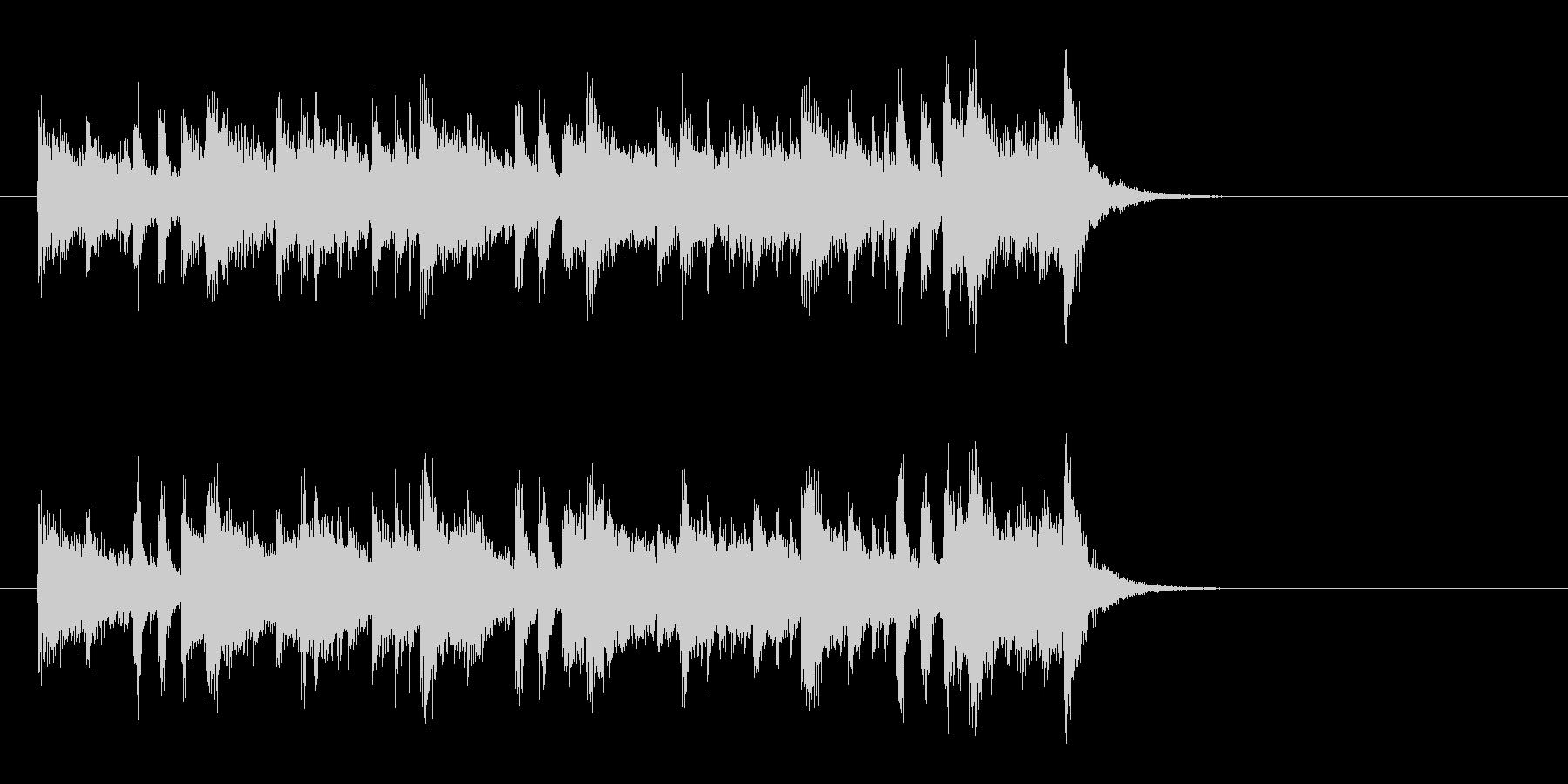 大人の軽快なフュージョン(イントロ)の未再生の波形