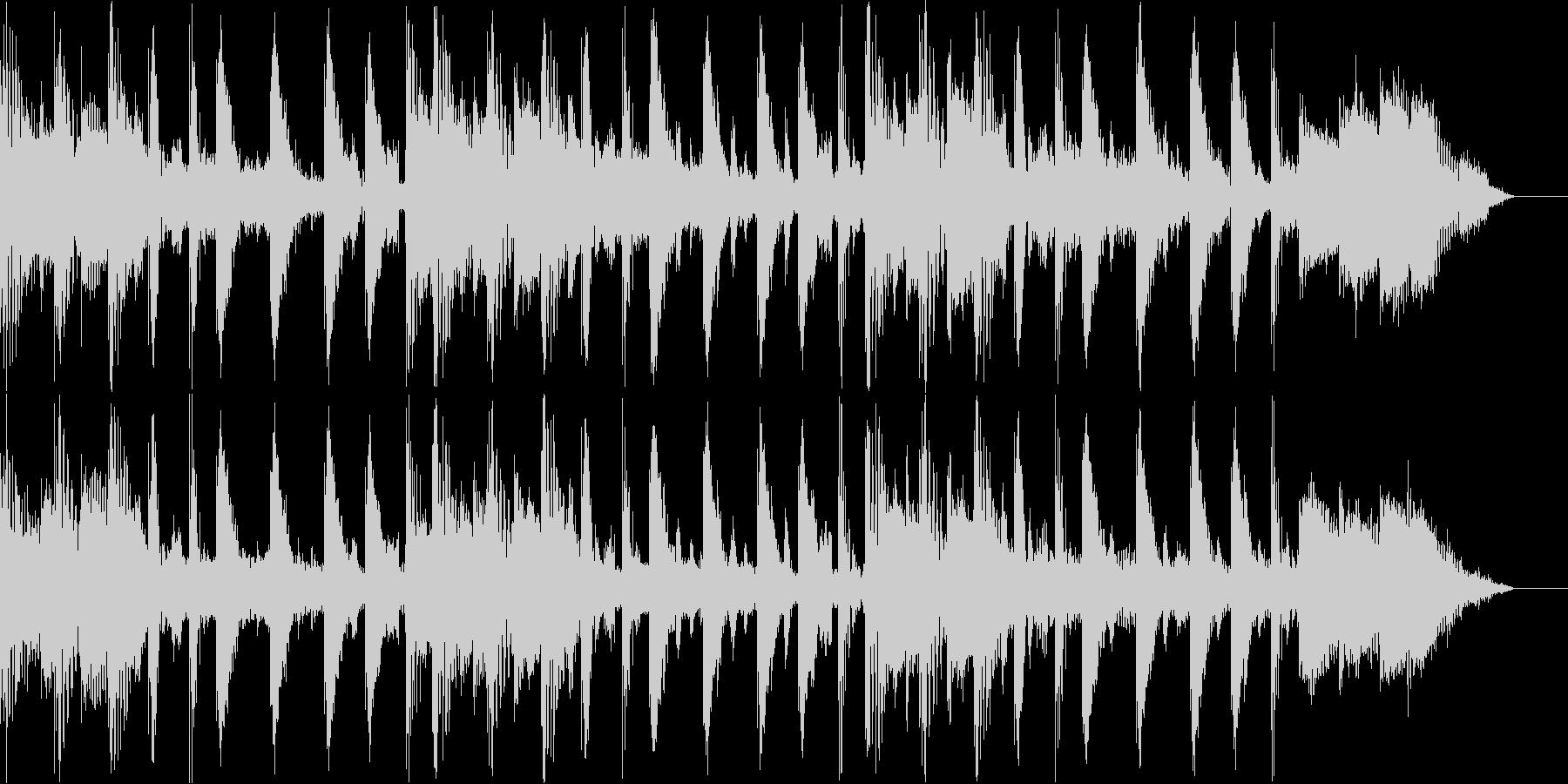 テクノでおしゃれなBGMの未再生の波形