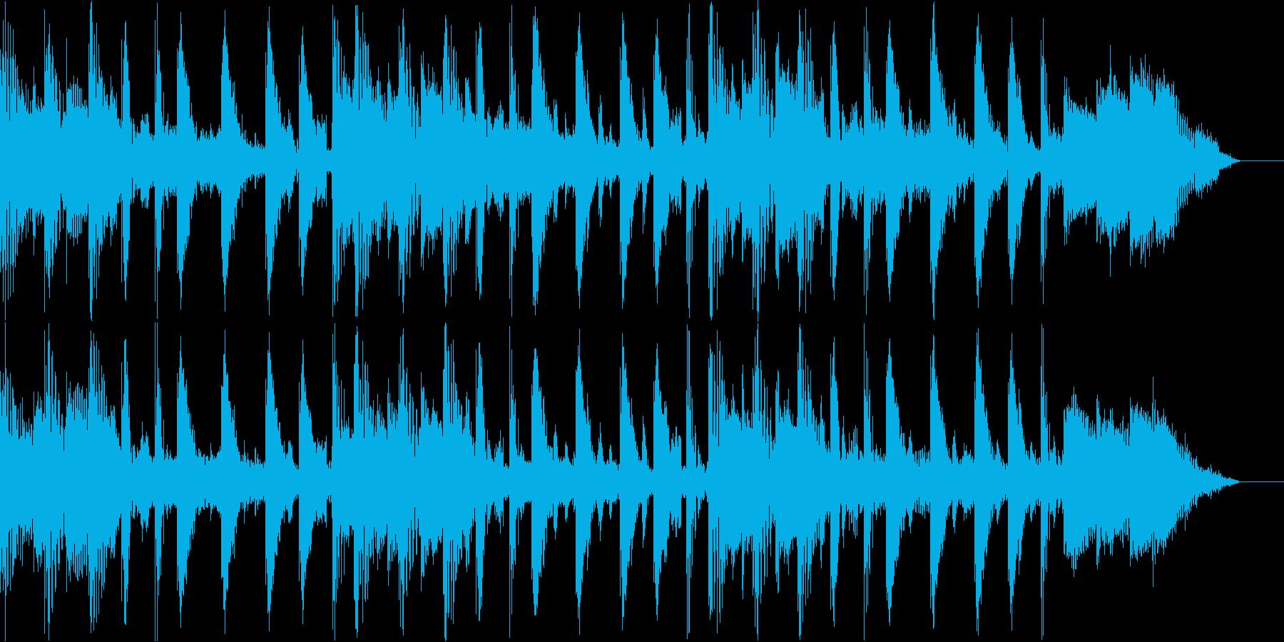 テクノでおしゃれなBGMの再生済みの波形