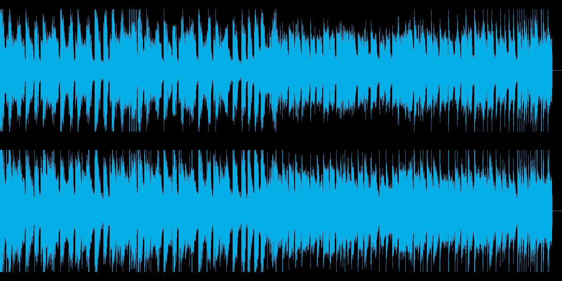 動画向けループ用のエレクトロハウスの再生済みの波形