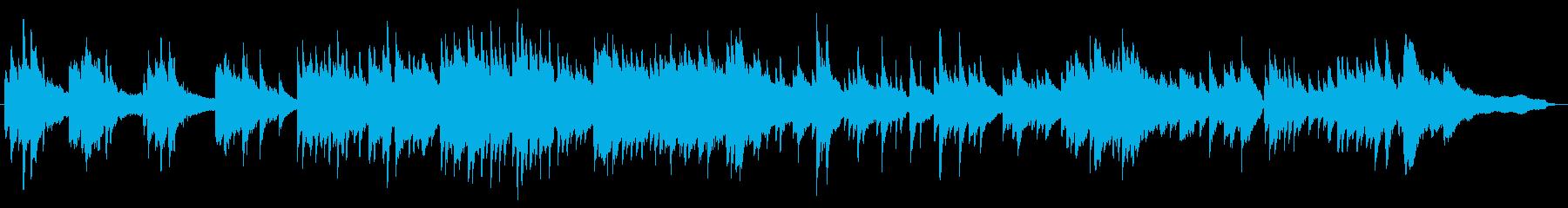 和風の音階で軽快な明るいピアノソロの再生済みの波形