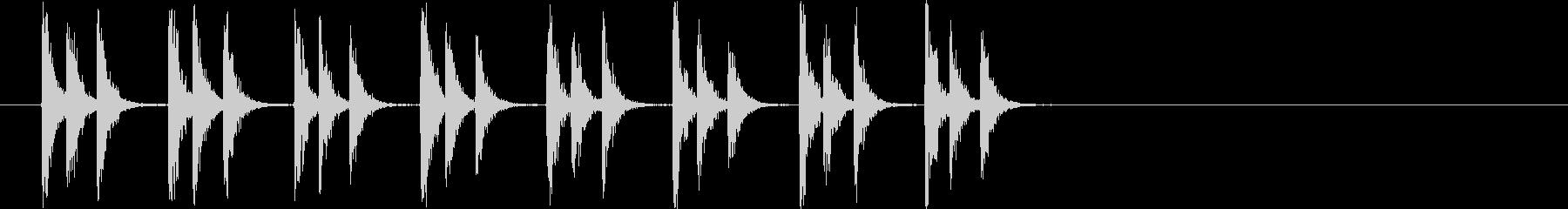 パカパカ走る馬の音の未再生の波形