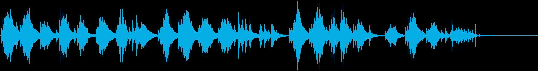 爽やかでオシャレなピアノ曲の再生済みの波形