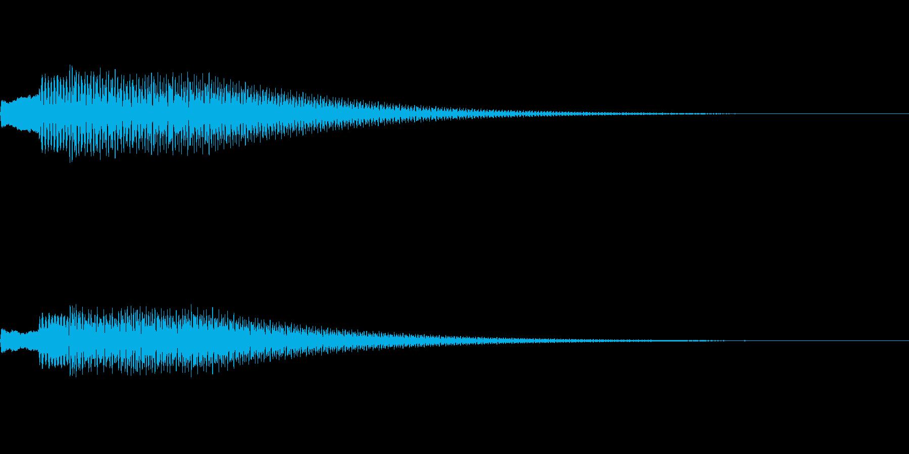 【SE 効果音】不気味な音12の再生済みの波形