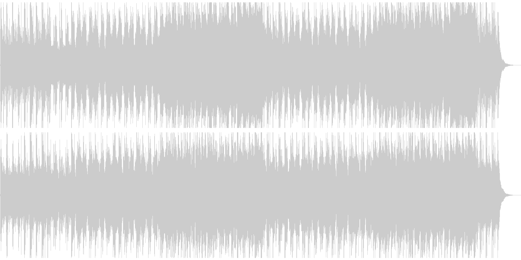和風で幻想的で壮大な雅楽も使った曲の未再生の波形