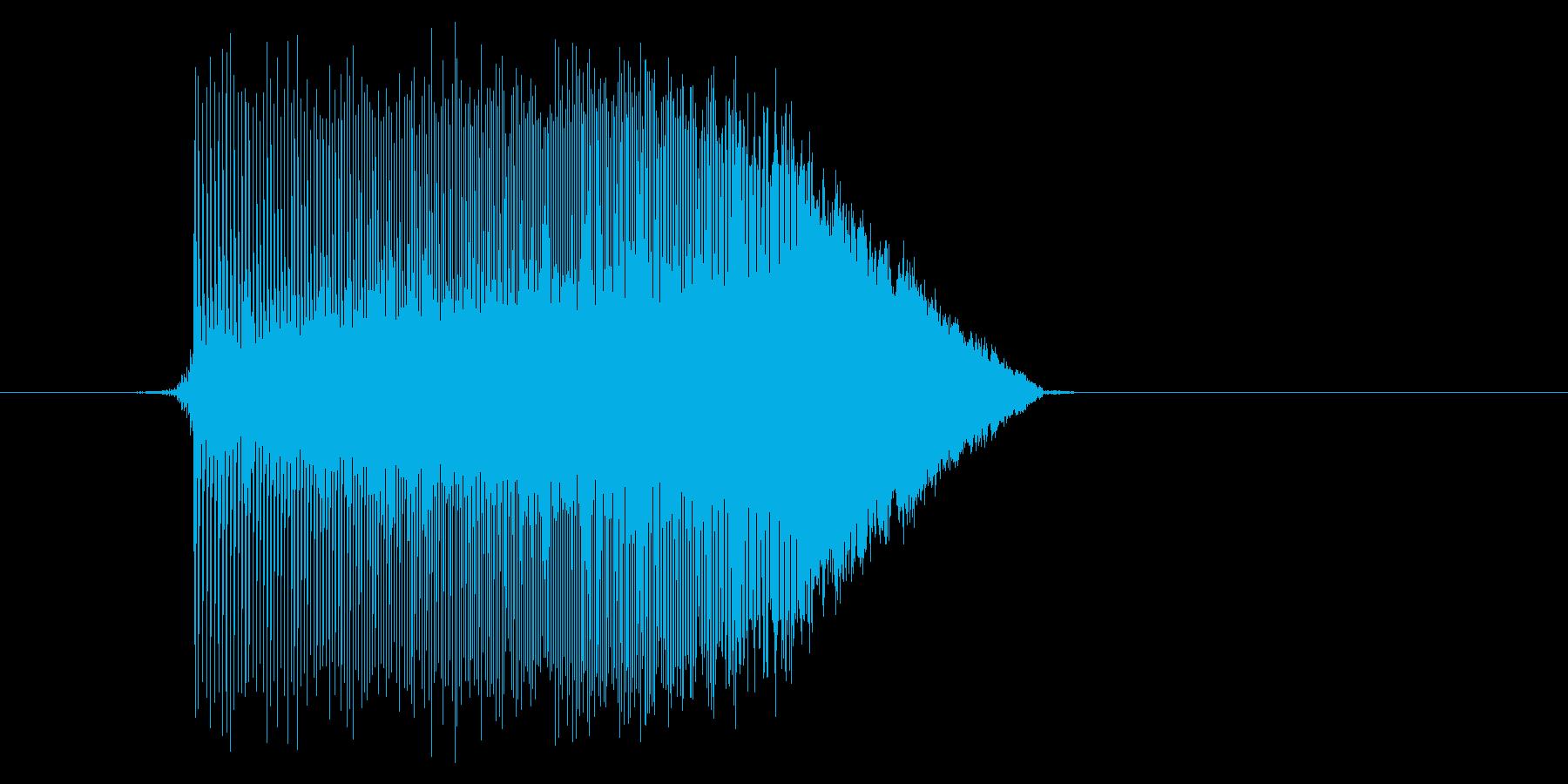 ゲーム(ファミコン風)ジャンプ音_009の再生済みの波形