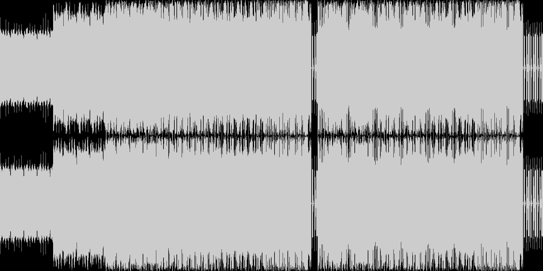 【アップテンポでロックなシンセEDM】の未再生の波形