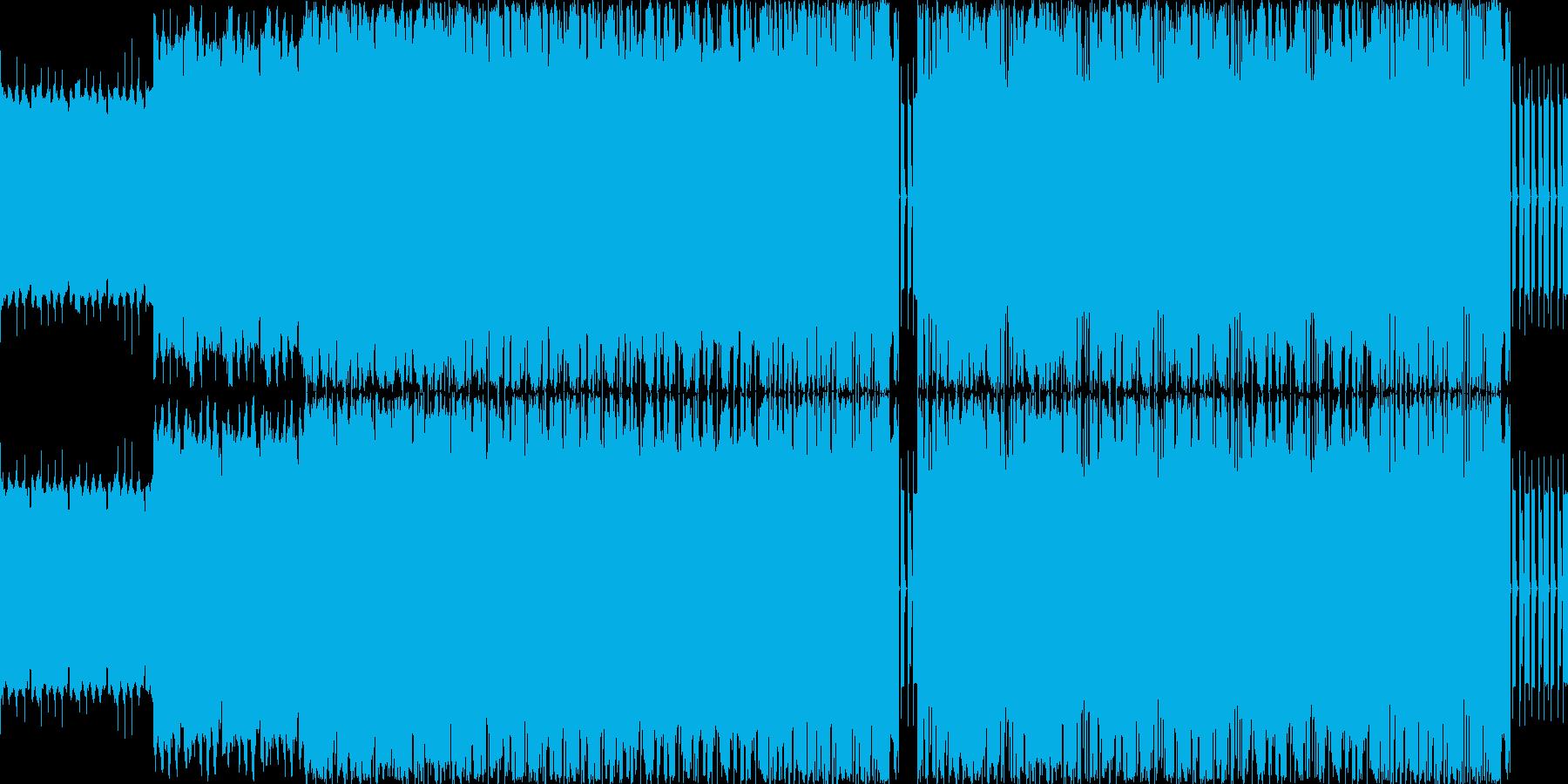 【アップテンポでロックなシンセEDM】の再生済みの波形