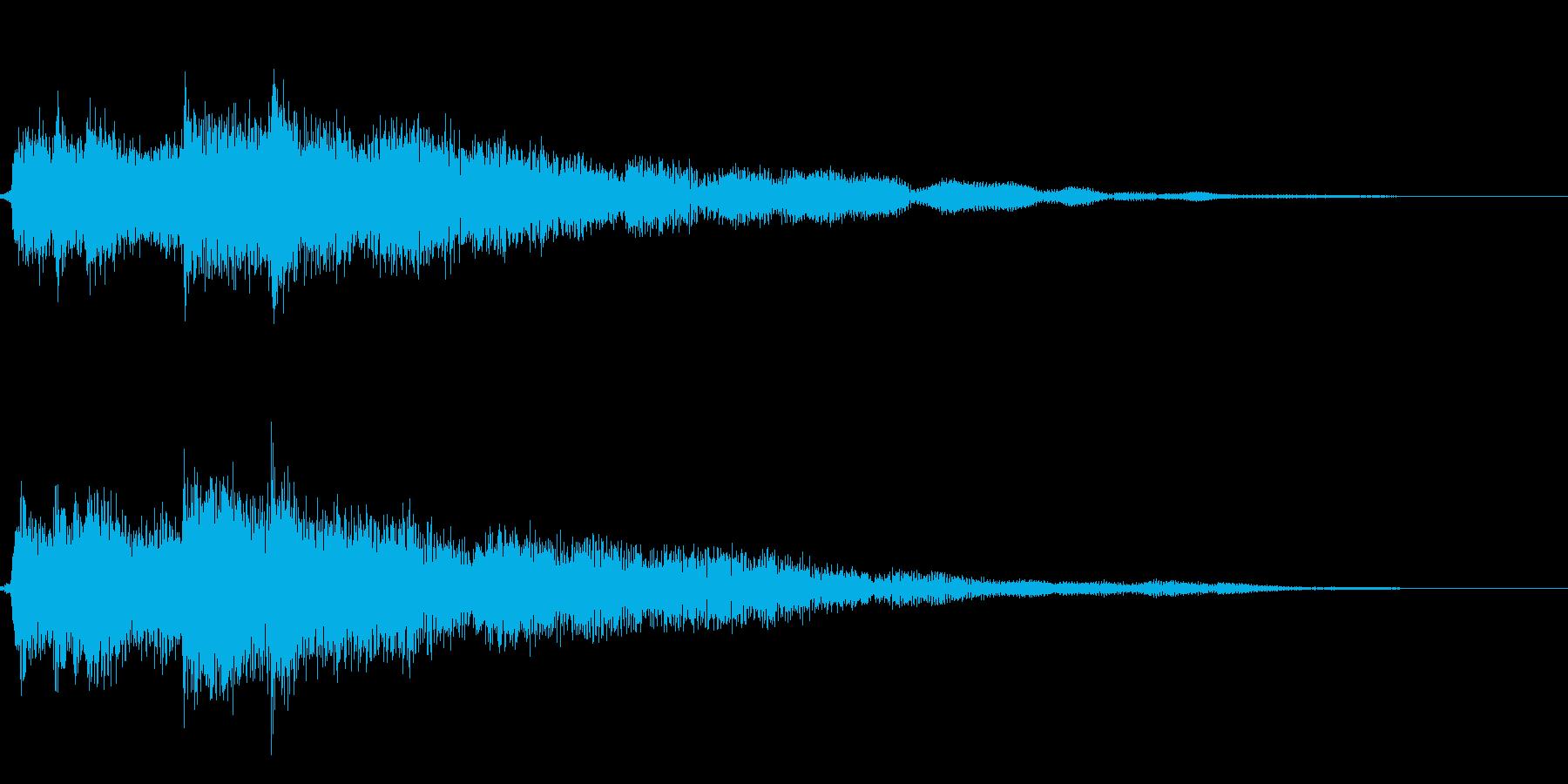 刀で打ち合う(低いチャンバラ音_キーン)の再生済みの波形